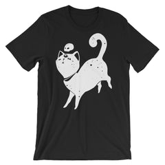 Space Cat, Unisex Black T-Shirt