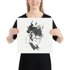 Pupula Duplex Demon Girls, Matte Art Print Poster