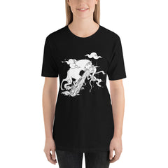 Cat And Snake, Unisex T-Shirt, Black