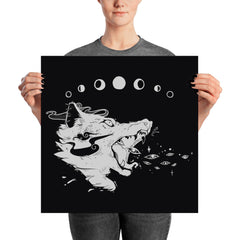 Magic Wolf Matte Art Print Poster