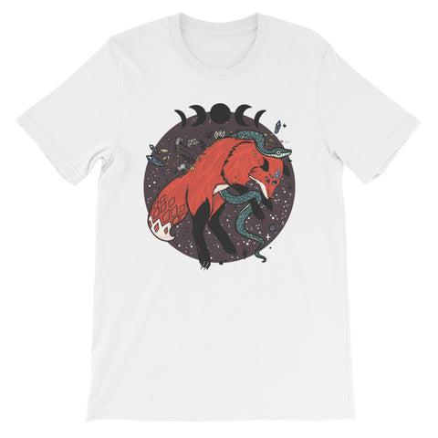 Jumping Fox With Snake Short-Sleeve Unisex T-Shirt