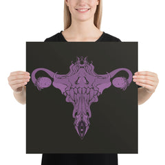 The Death Metal Uterus, Matte Art Print Poster