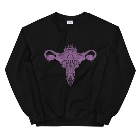 Death Metal Uterus, Unisex Sweatshirt, Black