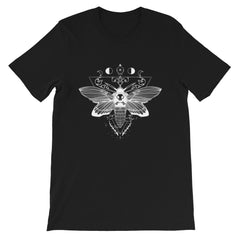 Death Head Moth, Unisex T-Shirt, Black