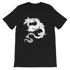 Dragon With Cats, Unisex T-Shirt, Black