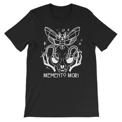 Memento Mori Cat Skull Black Graphic T-Shirt