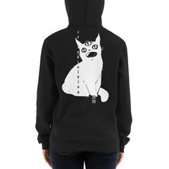 Cat With Third Eye, Unisex Zip Up Hoodie Sweater, Black
