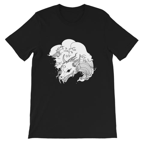 Dragon & Great Wave, Unisex T-Shirt, Black