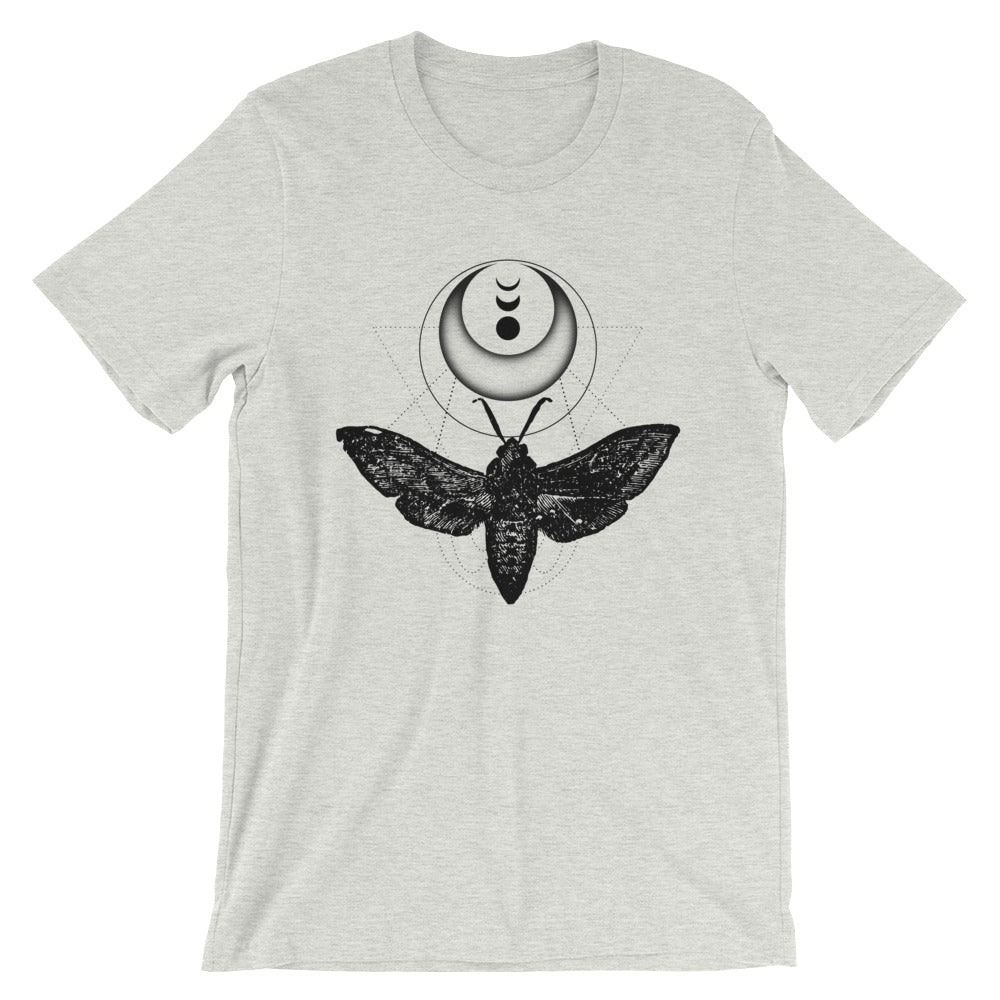 Moth T-Shirt In Ash Short-Sleeve Unisex
