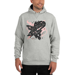 Many Wolves, Champion Hoodie, Gray Light Steel