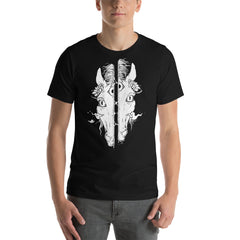 Split Face Horse, Unisex T-Shirt, Black