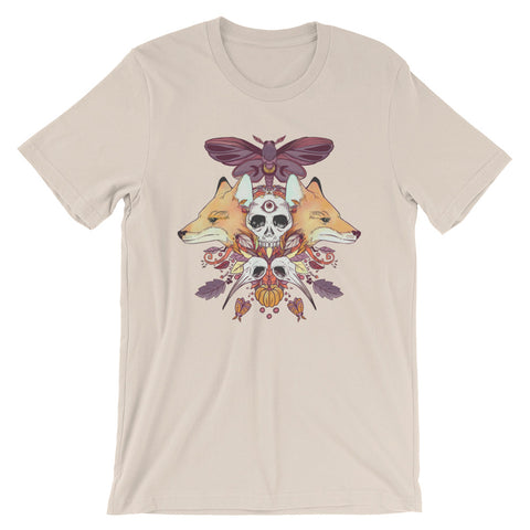Autumn Foxes Cream Unisex T-Shirt