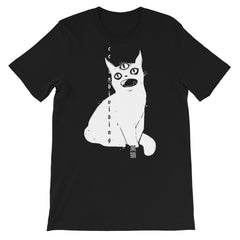 Third Eye Cat, Unisex T-Shirt, Black