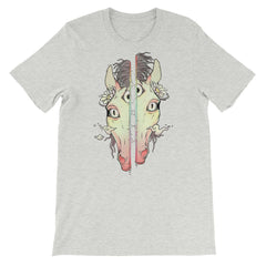 Split Face Horse, Unisex T-Shirt, Athletic Heather