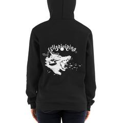 Wolf, Unisex Zip Up Hoodie Sweater, Black