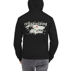Carpe Noctem Wolf, Unisex Zip Up Hoodie Sweater, Black
