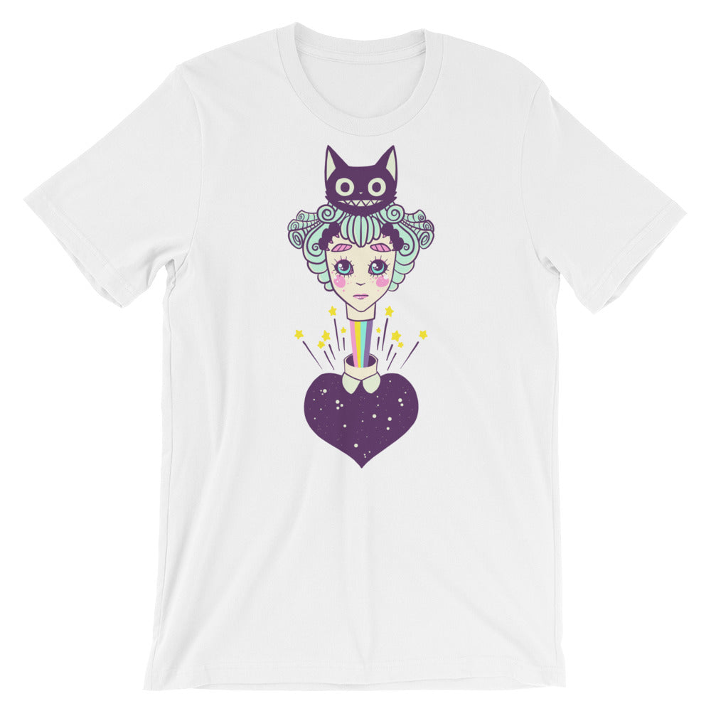 Cat Girl, White Unisex T-Shirt