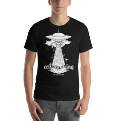 UFO & Cats, Unisex T-Shirt, Black