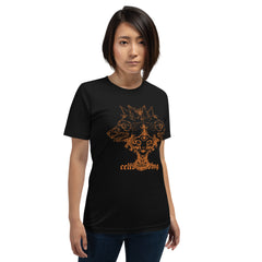 Girl With Wolves, Unisex T-Shirt, Black
