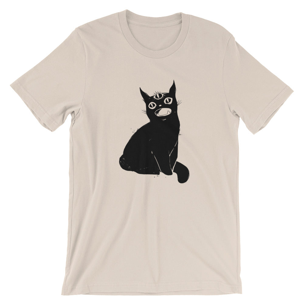 black cat art tshirt by jotoole