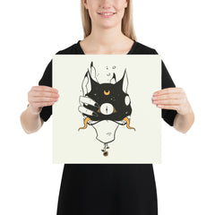 Two Headed Cat, Matte Art Print Poster