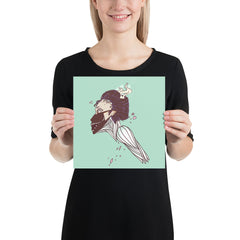K-Pop Girl, Matte Art Print Poster