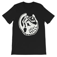 Cat Skeleton Black Unisex T-Shirt