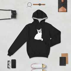 Third Eye Black Cat, Champion Hoodie, Black