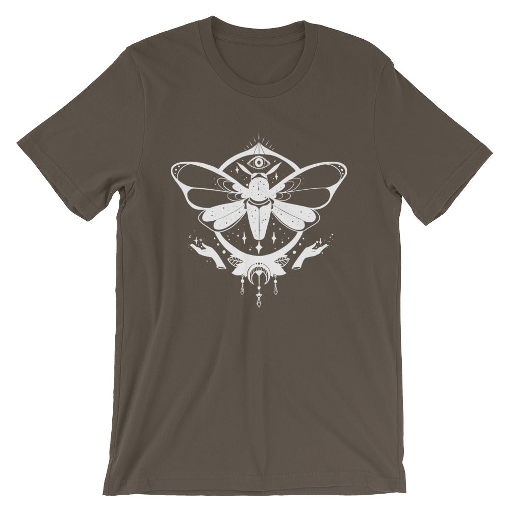Magic Moth, Unisex T-Shirt, Brown