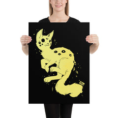 Spider Cat, Matte Art Print Poster