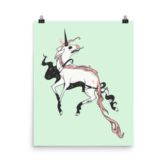 Weird Unicorn, Matte Art Print Poster