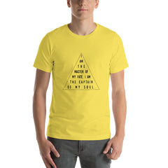 Master Of My Fate, Unisex T-Shirt, Yellow Or Heather Orange