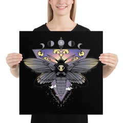 Death Head Moth, Matte Art Print Poster