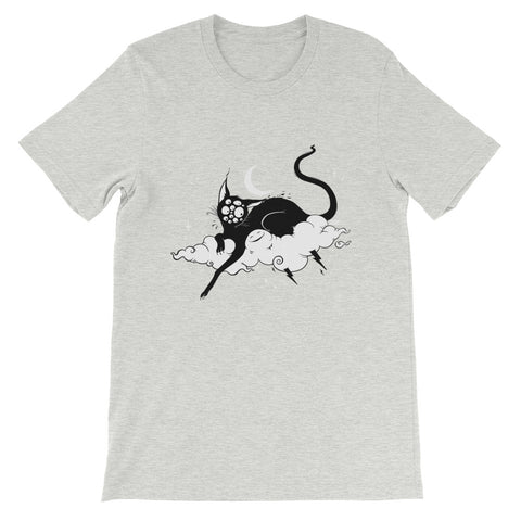 Black Cat, Unisex T-Shirt, Athletic Heather