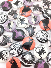 Skeleton Cat, 1-Inch Pin Button