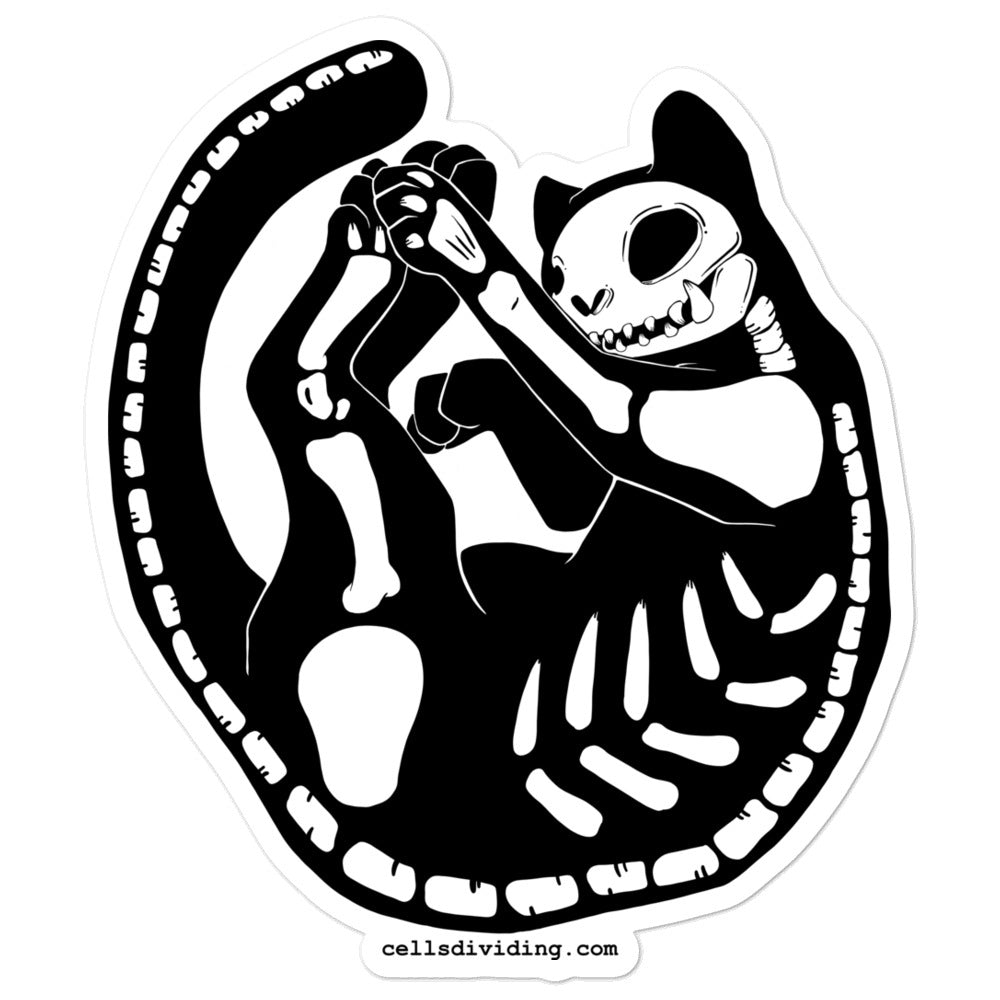 Skeleton Cat, Sticker