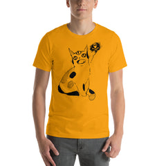 mens orange cat shirt