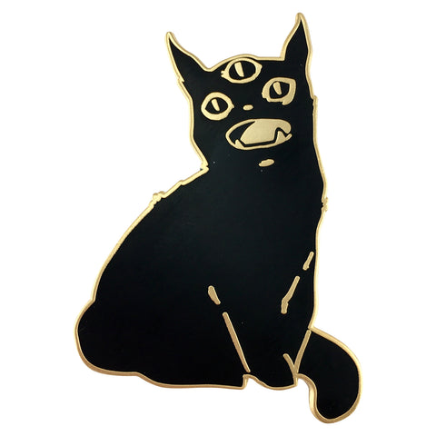 Third Eye Black Cat, Enamel Pin