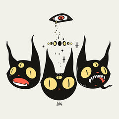 Three Cats, Matte Art Print Poster