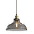 FORTUNE 1-Light Retro Glass Pendant Light Smoke E27
