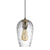 FILLE 1-Light Modern Glass Pendant Light Clear Shade E27
