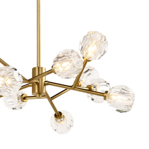 TULIM 12-Light Crystal Chandelier Aged Brass G9 - 7Pandas Lighting Store Australia