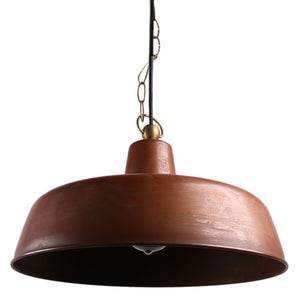 PARMA 1-Light Industry Pendant Light Aged Copper E27 - 7Pandas Lighting Store Australia