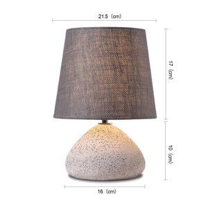 LAURA 1-Light Modern Table Lamp Concrete Base E27 White