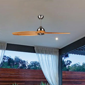 HAVANA 139cm / 55 inch 2 Blade DC Modern Ceiling Fan Timber in Brown - 7Pandas Lighting Store Australia