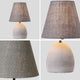 ELENA 1-Light Modern Table Lamp Concrete Base E27 White
