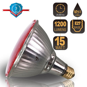 LED Par38 Bulb Flood Light Waterproof 15W E27 Red - 7Pandas Lighting Store Australia