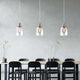 WINER 1-Light Modern Glass Pendant Light Chrome E27