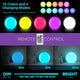 FULL MOON LED Night Light, AC Charging, 16 RGB Color Changing 20CM