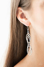 Load image into Gallery viewer, Paparazzi Tangle Tango - Silver - Earrings
